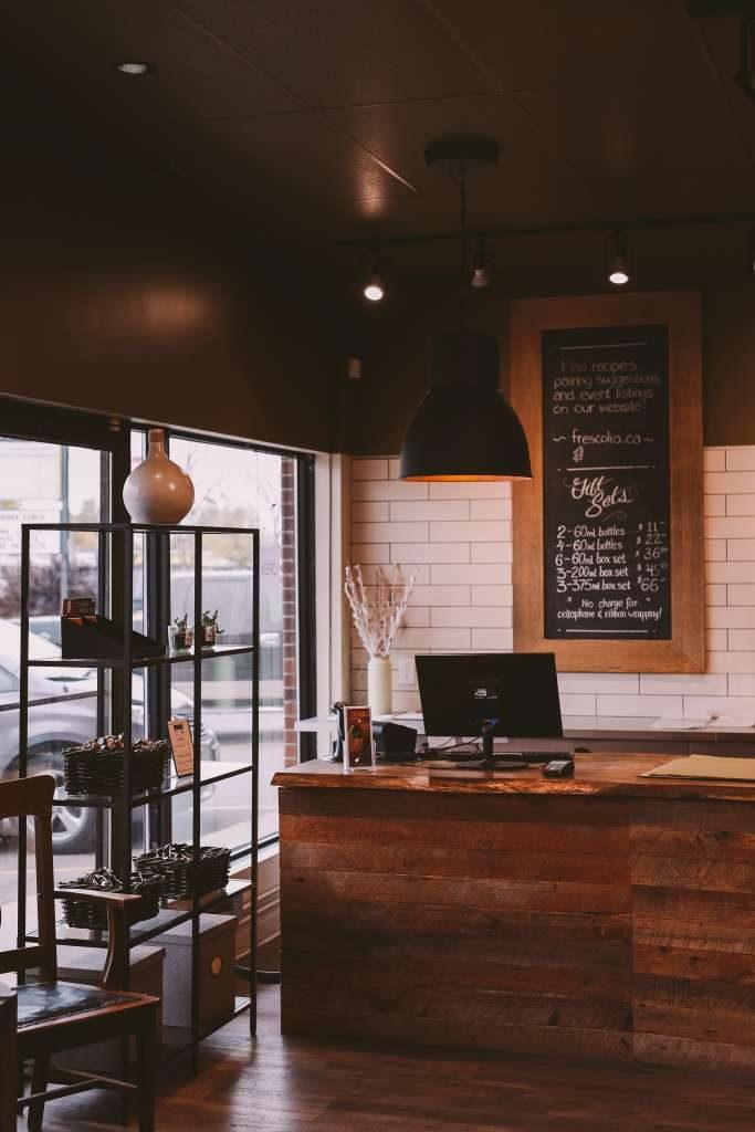 Extra-virgin olive oil and balsamic vinegar store in Winnipeg, Manitoba, Canada.